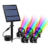 Solar Teichbeleuchtung, T-SUN RGB Solar Unterwasserstrahler LED Teich Licht...