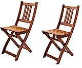 SAM 2er Set Akazien-Holz Gartenstuhl, ideal für Balkon, Garten Terrasse,...