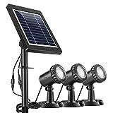 Ankway Solarspots Unterwasserstrahler LED Teichbeleuchtung Solar mit DREI Spots...