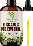 Organic Neemöl Niemöl Haut & Haare - Neem Oil for Hair Pure Neem Oil Cold Pressed...