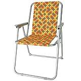 diMio Retro-Design Klappstuhl in 8 trendigen Designs Camping Garten Anglerstuhl 70er...
