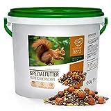 wildtier herz | Eichhörnchenfutter 2 kg für Eichhörnchen und Streifenhörnchen –...