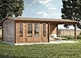 Alpholz Gartenhaus Freiburg-44 aus Massiv-Holz   Gerätehaus mit 44 mm Wandstärke  ...