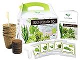 BIO Kräuter Box CLASSIC - Anzuchtset - 5 Sorten BIO Samen - zum Selberzüchten oder...