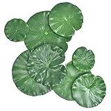 8 Stück Teichpflanzen, 4 Größen, künstliche Lotusblätter, schwimmende...