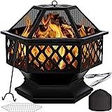 KESSER® Feuerschale mit Grillrost Ø 62 Multifunktional Fire Pit für Heizung/BBQ...