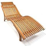 Ampel 24 Sonnenliege Cannes, Gartenliege ergonomisch geschwungen, Relaxliege mit...