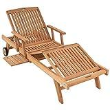 DIVERO GL05660 Mehrfach verstellbare Sonnenliege Gartenliege Relaxliege Liege...