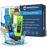 Veddelholzer pH Wert Messgerät pool Thermometer, pH TDS EC und Temperatur 4 in 1...