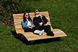 Sonnenliege Waldsofa Forst Rombus 150 für 2-3 Personen aus Holz | Außenliege,...