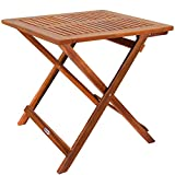 Deuba Gartentisch Klapptisch Akazie Holz 70 x 70 cm Klappbar Beistelltisch Holztisch...