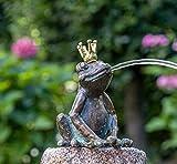 IDYL Rottenecker Bronze-Skulptur Froschkönig Klaus wasserspeiend hockend (ohne...