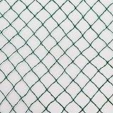 Vielseitiges Teichnetz 10m x 8m grün 17mm x 17mm Masche I Aquagart Laubschutznetz...