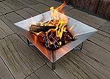NAMOR© Edelstahl Feuerschale Feuerstelle Feuerkorb Grillschale Lagerfeuer | Handmade...