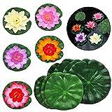 SwirlColor Schwimmende Blumen, künstliche Lotusblüte, schwimmende Lotusblätter,...