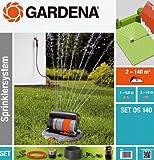 Gardena Sprinklersystem Komplett-Set mit Versenk-Viereckregner OS 140:...