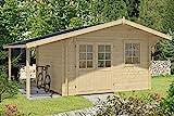 Alpholz Gartenhaus Franco Premium aus Massiv-Holz | Gerätehaus mit 44 mm Wandstärke...