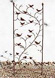 DanDiBo Rankhilfe mit Vögel 120705 Rankgitter aus Metall H-150 cm B-50 cm...