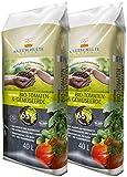 Floragard Kleeschulte Bio Tomaten und Gemüseerde 2x40 L • torffrei • 65%...