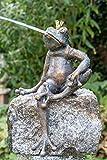 IDYL Rottenecker Bronze-Skulptur Froschkönig Martin wasserspuckend auf Granit |...