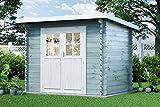 Alpholz Gartenhaus Korfu-28 aus Massiv-Holz | Gerätehaus mit 28 mm Wandstärke |...