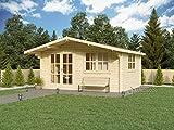 Holz-Sommerhaus/Holz-Gartenhaus Monaco 500x400 cm (20m²), Wandstärke: 44 mm, mit...