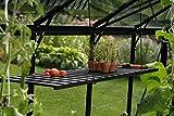 Vitavia Gewächshaus-Wandregal aus Aluminium, klappbar in versch. Farben schwarz