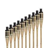 Hussala Bambus Gartenfackel Turin Öl Bambusfackeln, Nachfüllbar, Länge 100 cm...