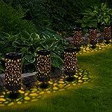 Sylanda 6 Stück Solarleuchte Garten, Solar Gartenleuchte Wasserdicht IP65...