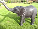 H. Packmor GmbH Bronzeskulptur Kleiner Elefant mit Wasserspeier aus Bronze (7147)
