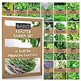 15er Kräuter Samen Set von Naturlie, 15 Sorten Küchenkräuter im Kräutersamen Set,...