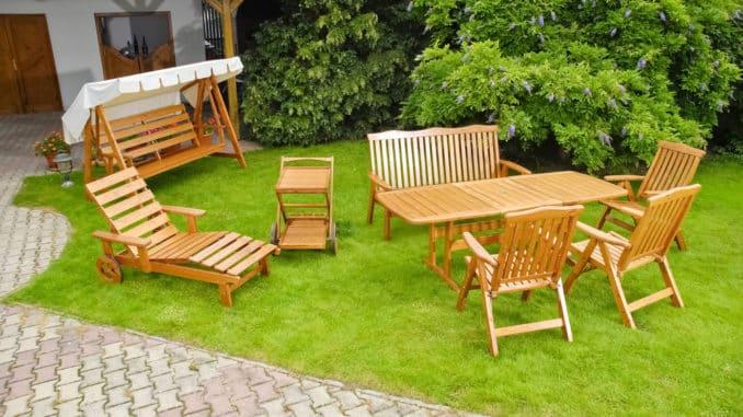Gartenliege Holz Geschwungen Terrasse Und Garten Net