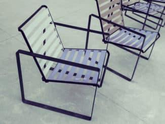 Gartenstuhl aus Aluminium
