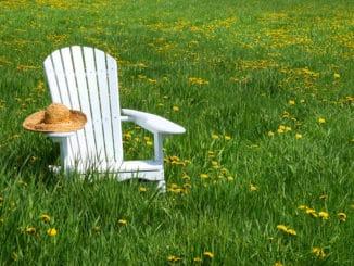 Gartenstuhl weiß