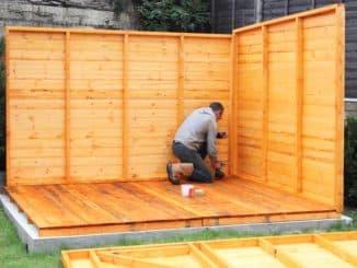 Holz für Gartenhaus