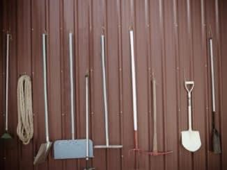 Geräteschuppen aus Metall