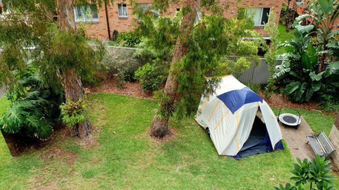 Camping im eigenen Garten