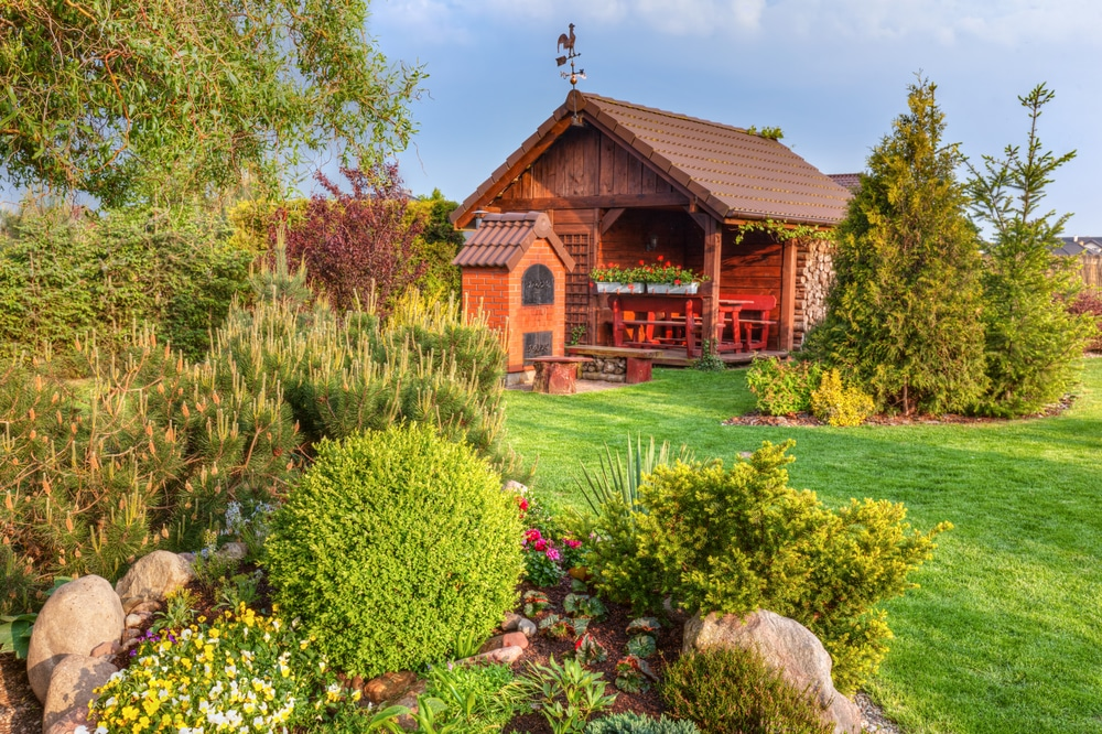 Gartenhaus im Grünen